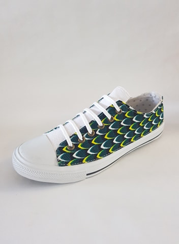 basket wax ecailles vert