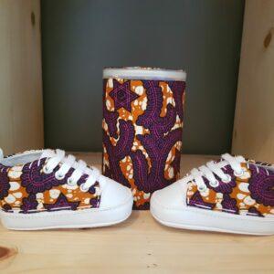 basket bébé wax étoiles violettes
