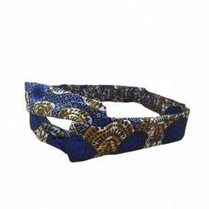 headband bleu wax
