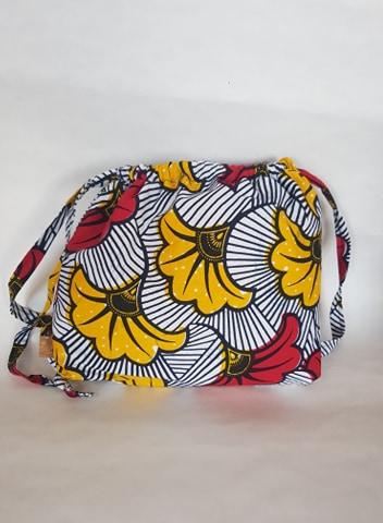 sac maternelle fleurs de mariage dos