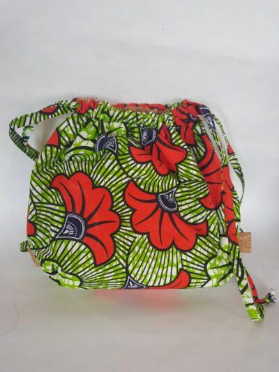 sac wax fleurs de mariage vert orange