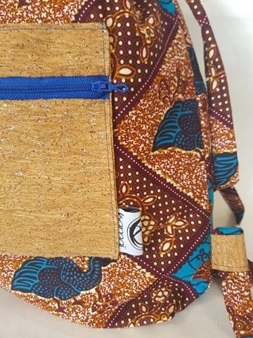 sac wax liege detail pintade