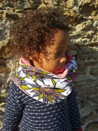 snood wax enfant fille rose saumon