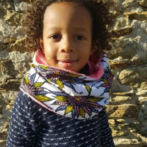 snood enfant wax fille rose saumon
