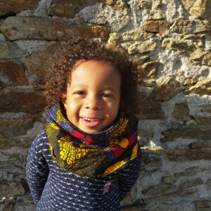 snood wax enfant fleurs multicolore