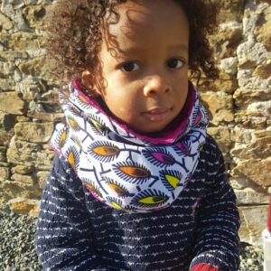 snood enfant wax fille plumes multicolore