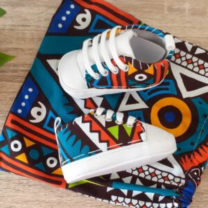 chaussons wax kente multicolore