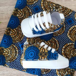 chaussures du roi wax bleu